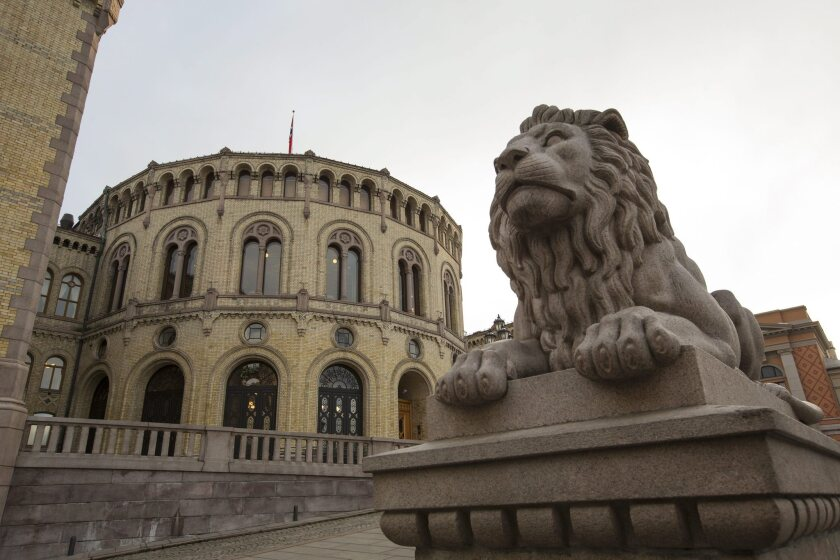 The Norwegian Parliament in Oslo.