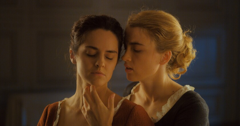 "Noémie Merlant and Adèle Haenel in a scene from ""A Portrait of a Lady on Fire."""