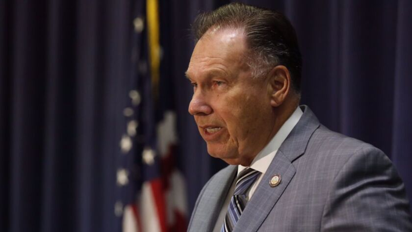 """""""These companies will never be able to operate again in Orange County or the state of California,"""" Dist. Atty. Tony Rackauckas, above, said in a statement."""