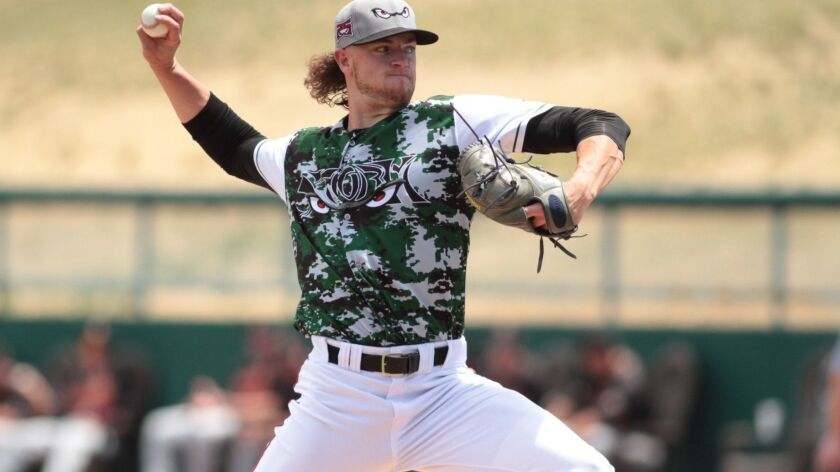 Padres pitching prospect Chris Paddack started the 2018 season with the high Single-A Lake Elsinore Storm.