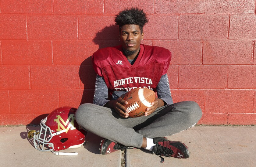 In Monte Vista's 37-10 win over previously unbeaten Santana, the Monarchs ran the ball 62 times and never attempted a pass. Isiah Gardner got 38 of the carries for 171 yards.