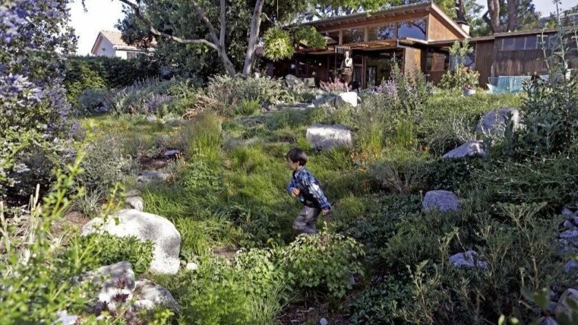TUJUNGA, CA - APRIL 24, 2019: For 20 years landscape designers Cassy and Kirk Aoyagi of Form LA Land