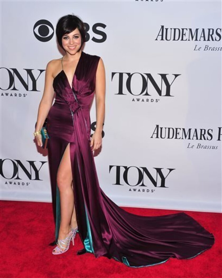 """FILE - This June 9, 2013 file photo shows Krysta Rodriguez at the 67th Annual Tony Awards in New York. Rodriguez is starring in a new musical about a blind date opposite Zachary Levi, who led the TV show """"Chuck."""" (Photo by Charles Sykes/Invision/AP, File)"""