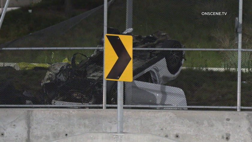 One person was killed in a crash near the U.S.-Mexico border early Sunday.