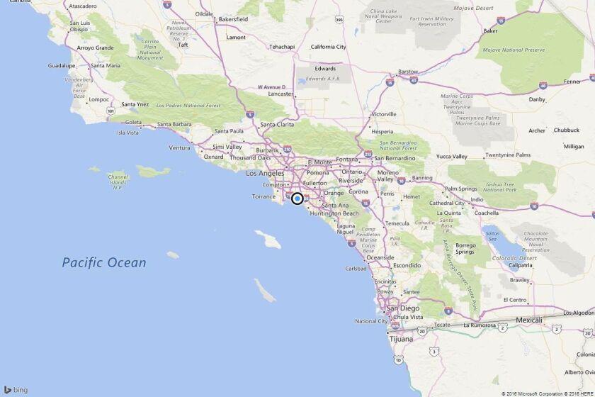 Earthquake: 2.7 quake strikes near Seal Beach, Calif.