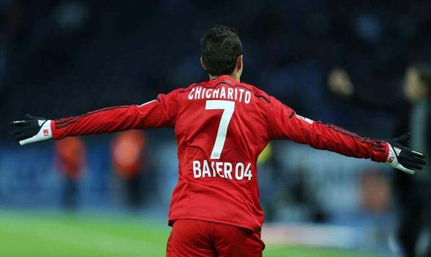 Javier 'Chicharito' Hernández, delantero del Bayer Leverkusen.
