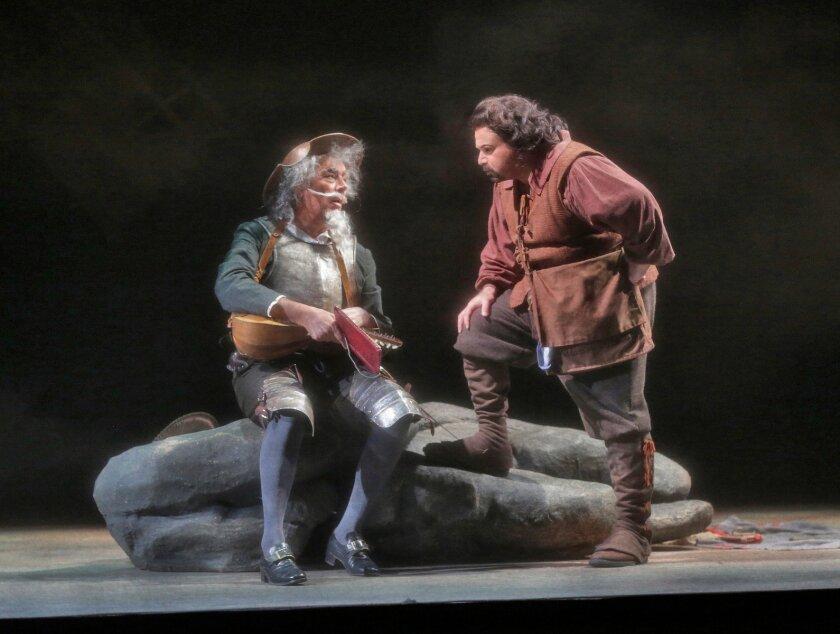 "Ferruccio Furlanetto is Don Quixote and Eduardo Chama is Sancho Panza in the San Diego Opera's ""Don Quixote."" Photo: Ken Howard"