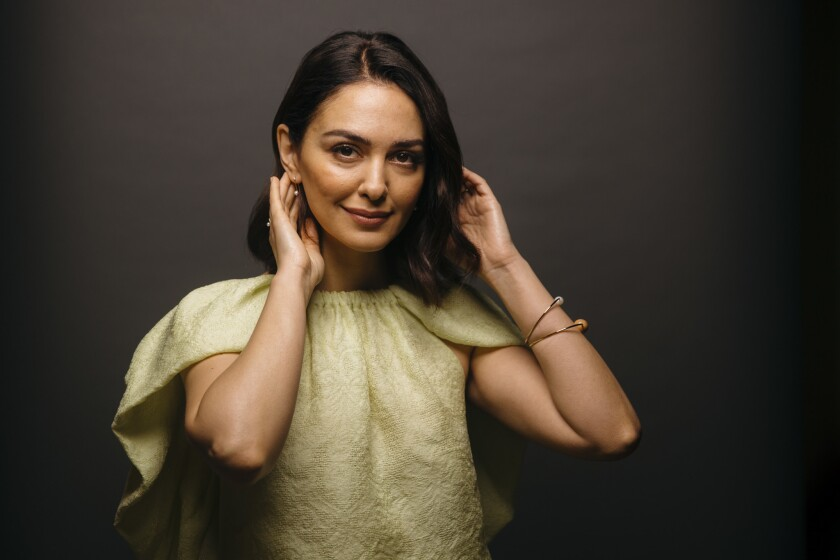 Actress and activist Nazanin Boniadi poses for a portrait in the Los Angeles Times photo studio in El Segundo on Dec. 18, 2018.