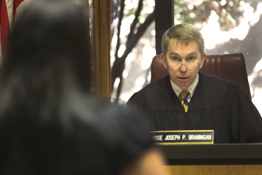 """Judge Joseph Brannigan listened to a young woman enter her plea of """"no contest"""" to a speeding ticket."""