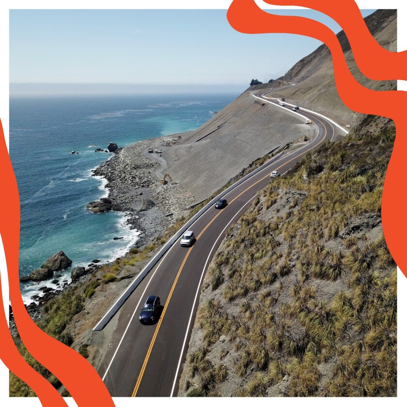 Cars on California 1 in Big Sur