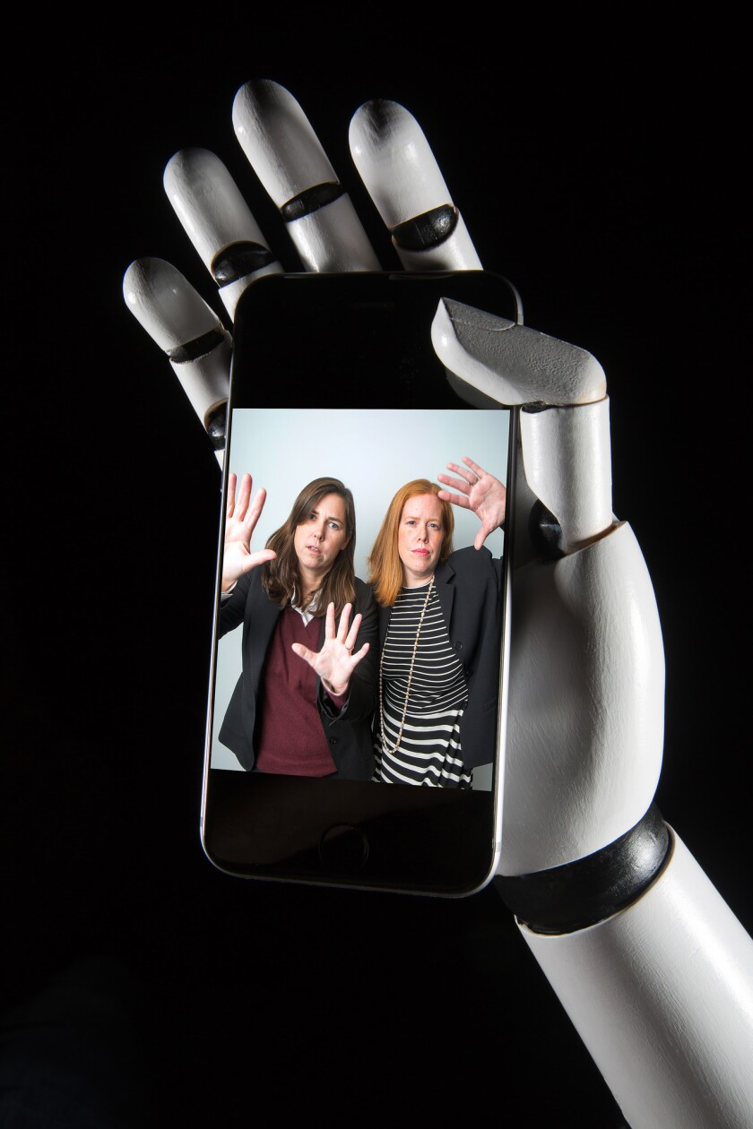 Janice Kopec, left, is the Federal Trade Commission's point person on robo-calls. Ami Dziekan has been program manager of the Do Not Call Registry since 2010. M