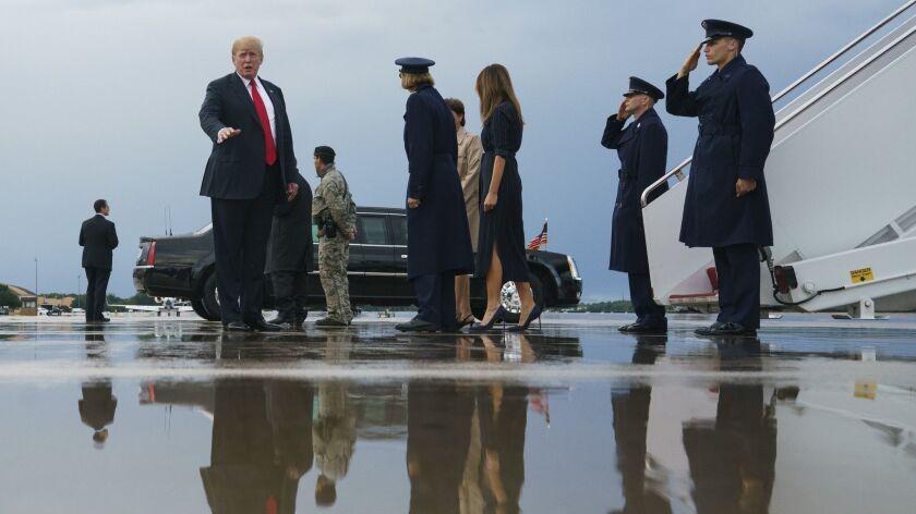 Donald Trump, Melania Trump, and Barron Trump