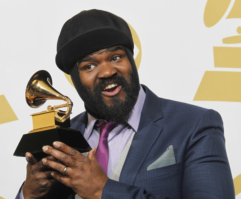 Gregory Porter at the 2014 Grammys.