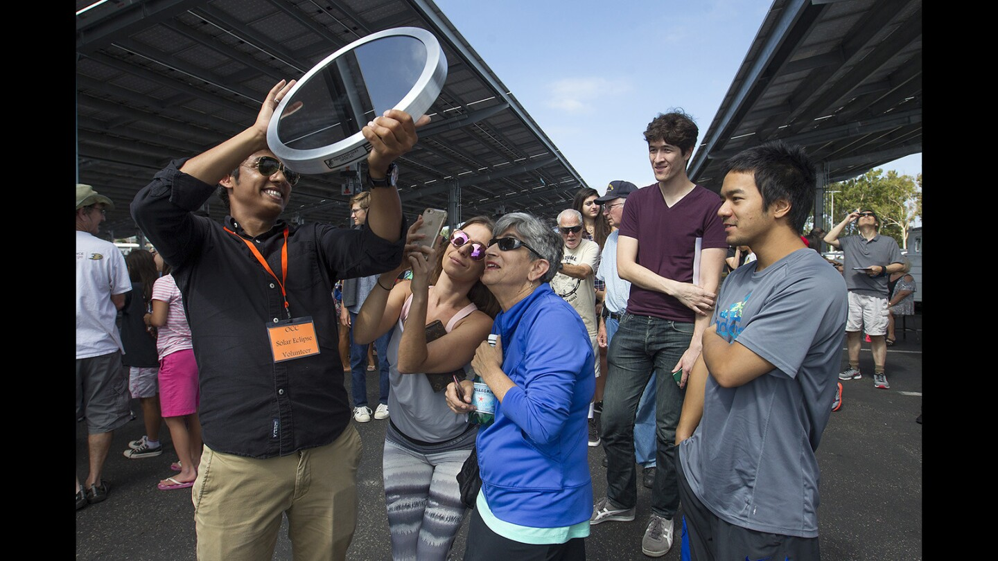 Solar Eclipse Draws Hundreds to OCC Astronomy View Party