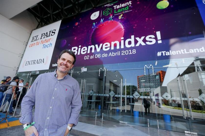 El creador del evento Talent Land, Pablo Antón, posa este domingo 1 de abril de 2018, durante una entrevista con Efe en la ciudad de Guadalajara (México). EFE