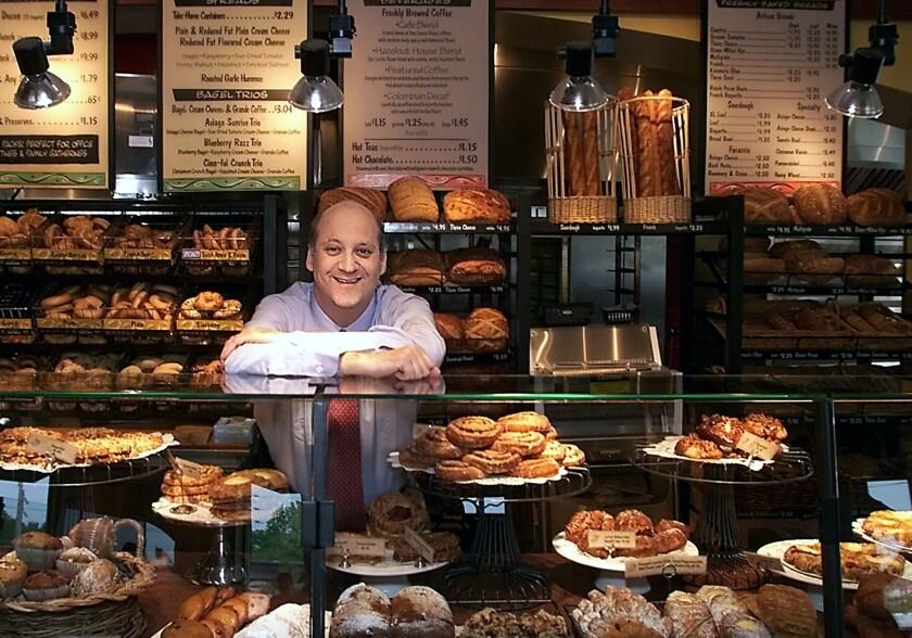 Panera Bread Co. Chief Executive Ron Shaich at one of his St. Louis cafes.