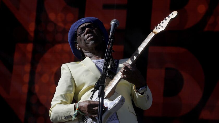 INDIO, CALIF. - APR. 14, 2018. Legedary singer/ songwriter Nile Rodgers performs with CHIC during t