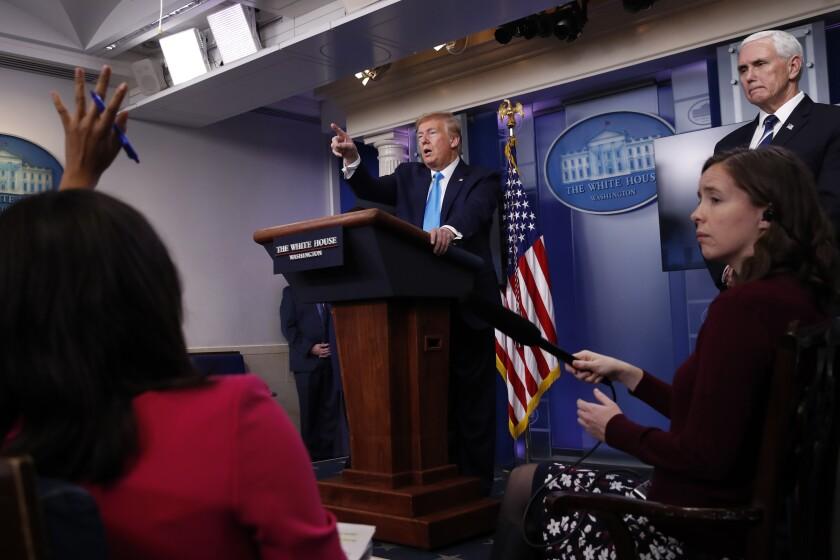 Virus Outbreak Trump Politics of Blame