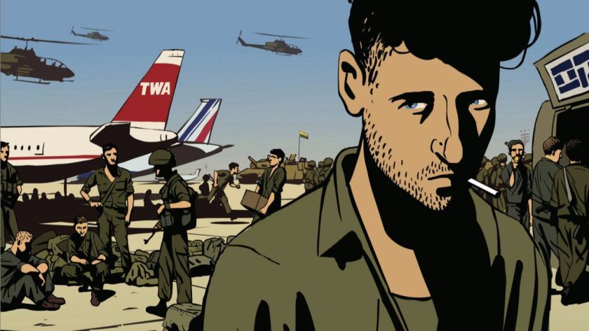An Image from the movie WALTZ WITH BASHIR directed by Ari Folman .