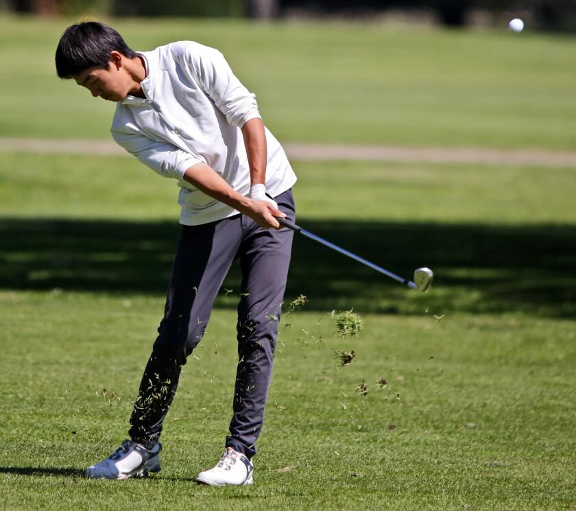 Burbank High golfer JJ Nakao..