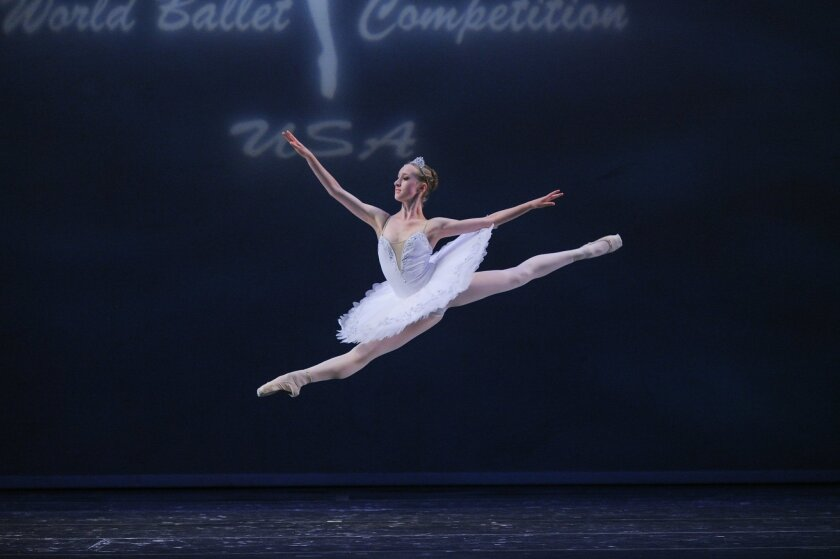 Sophie Williams at the World Ballet Competition.