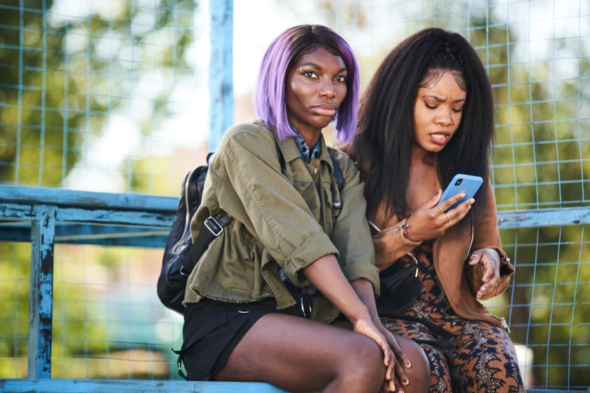 """Michaela Coel and Weruche Opia in """"I May Destroy You."""""""