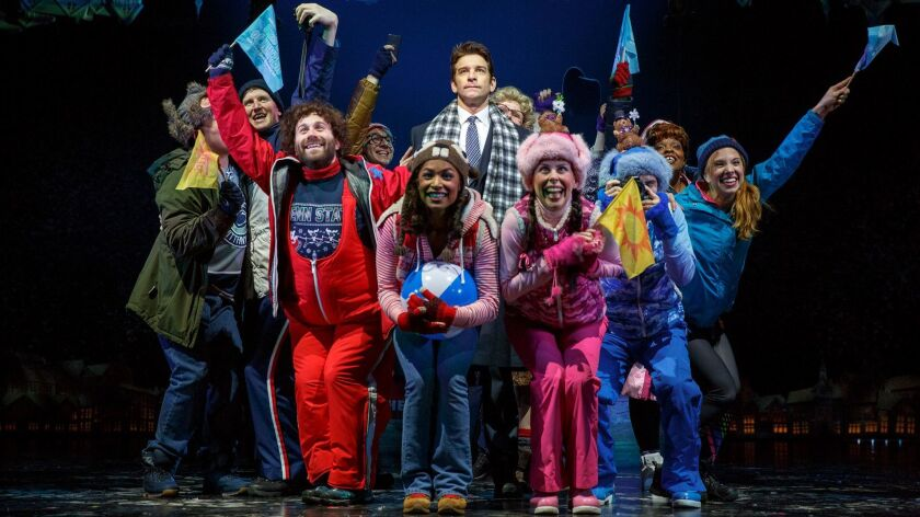 """Andy Karl and the company of """"Groundhog Day."""""""