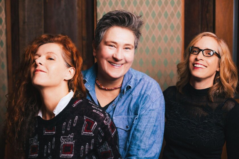 From left, Neko Case, k.d. lang and Laura Veirs will perform at Humphreys.