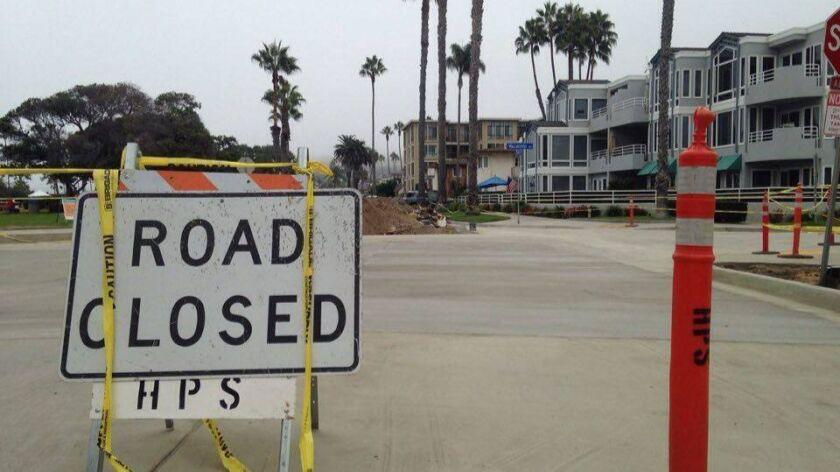 Access to La Jolla Shores beach was complicated by traffic blockage on Vallecitos and Camino del Oro.