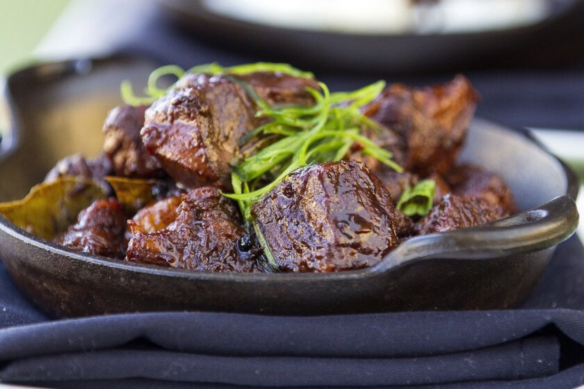 Pork adobo from Arterra's executive chef, Evan Cruz.
