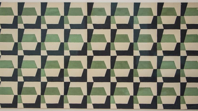 "John McLaughlin, ""Untitled (detail),"" circa 1949, gouache on card stock"
