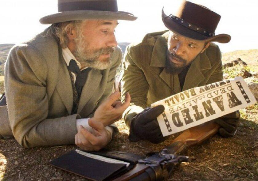 """Christoph Waltz, left, and Jamie Foxx in """"Django Unchained."""""""