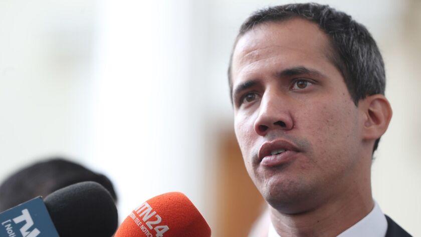 Juan Guaido has proclaimed himself Venezuela's interim president.