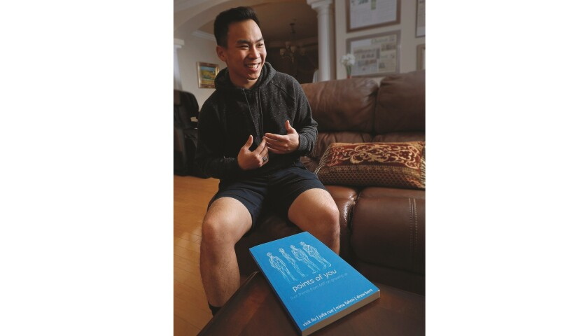 Young entrepreneur, and now author, Vick Liu, in his family home in Arcadia on Monday, December 31,