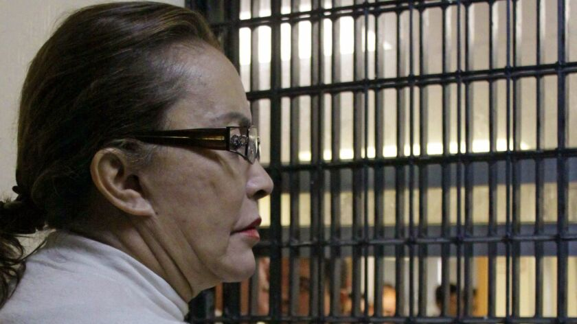 The former head of Mexico's National Education Workers' Union, Elba Esther Gordillo, in a 2013 court appearance in Mexico City.