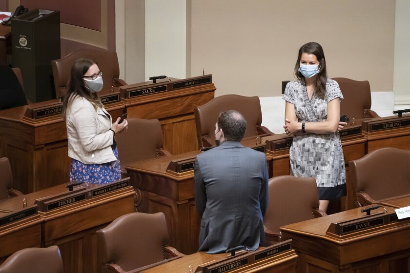 Minnesota lawmakers Jamie Becker-Finn, Jamie Long, Liz Olson