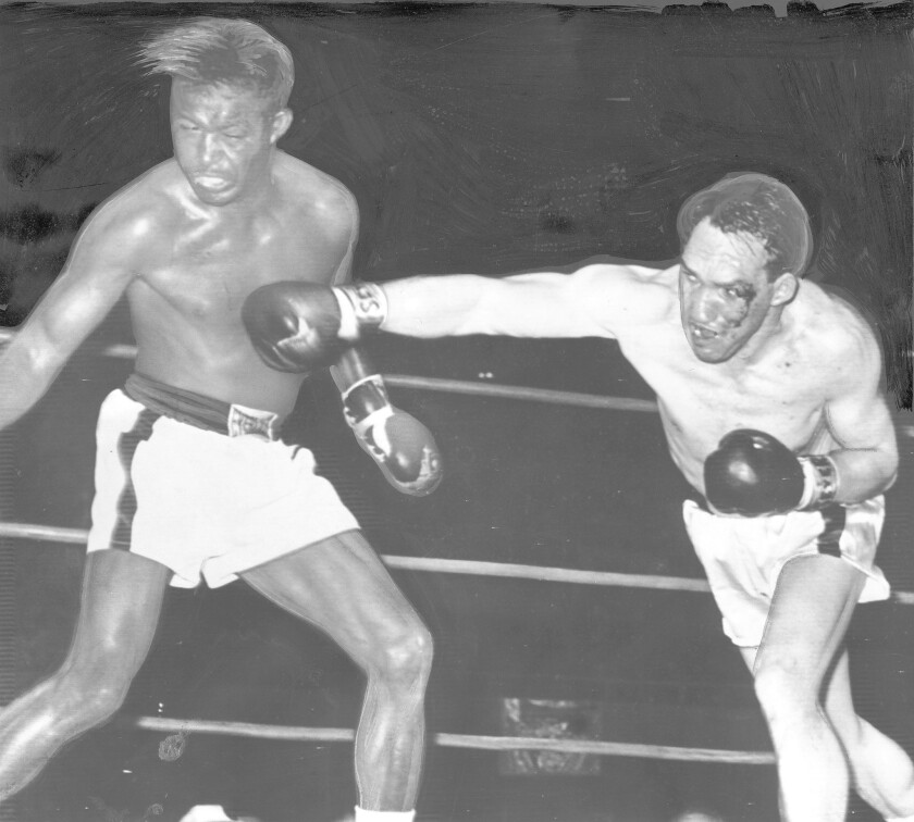 Sugar Ray Robinson and Gene Fullmer