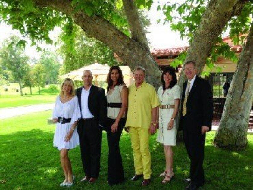 """""""Taste of Rancho Santa Fe"""" Committee members (l-r)  Deanne Motsenbocker, Derek Adams, Elaine Leach, Bill Gang, Linda Durket and Greg Grajek."""