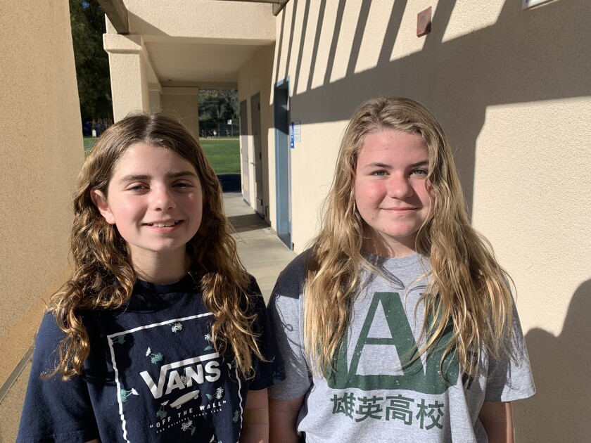 Fifth grader Audrey Hamilton won for April and sixth grader Katie Rockwell won for August.