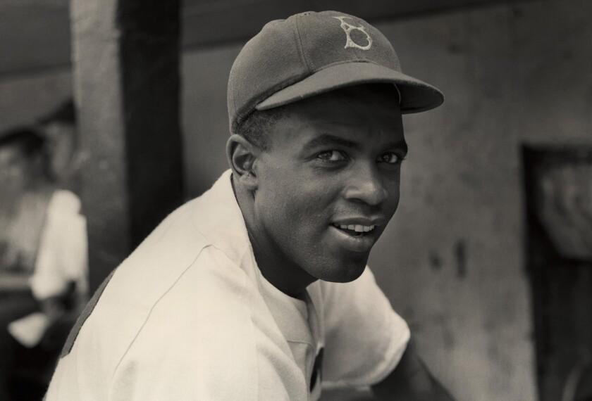 Baseball legend Jackie Robinson in 1945.