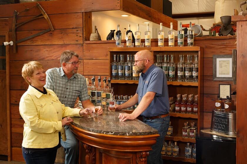 Sandstone Distillery in Tenino makes spirits from local grains.