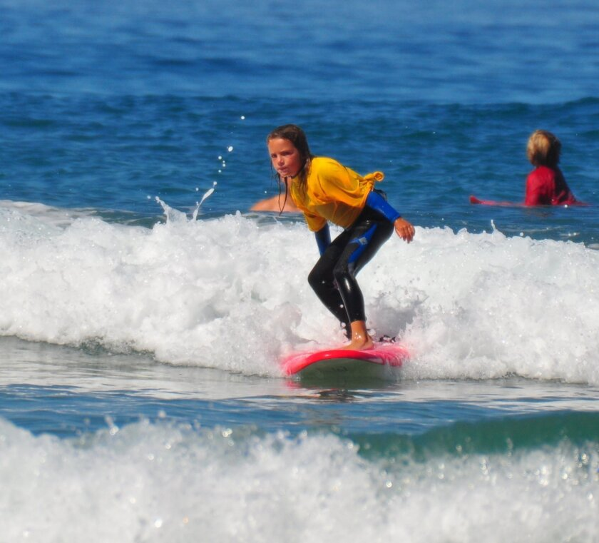 A young surfer in the 2014 contests at La Jolla Shores