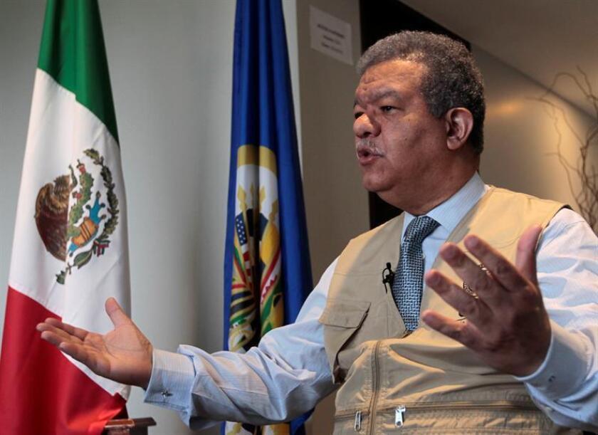 El jefe de la misión de observación, Leonel Fernández, habla hoy jueves 28 de junio de 2018, durante una entrevista con Efe, Ciudad de México (México). EFE