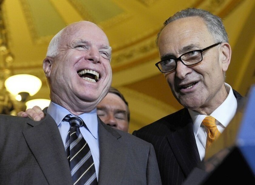 Schumer, McCain team up for Senate filibuster deal