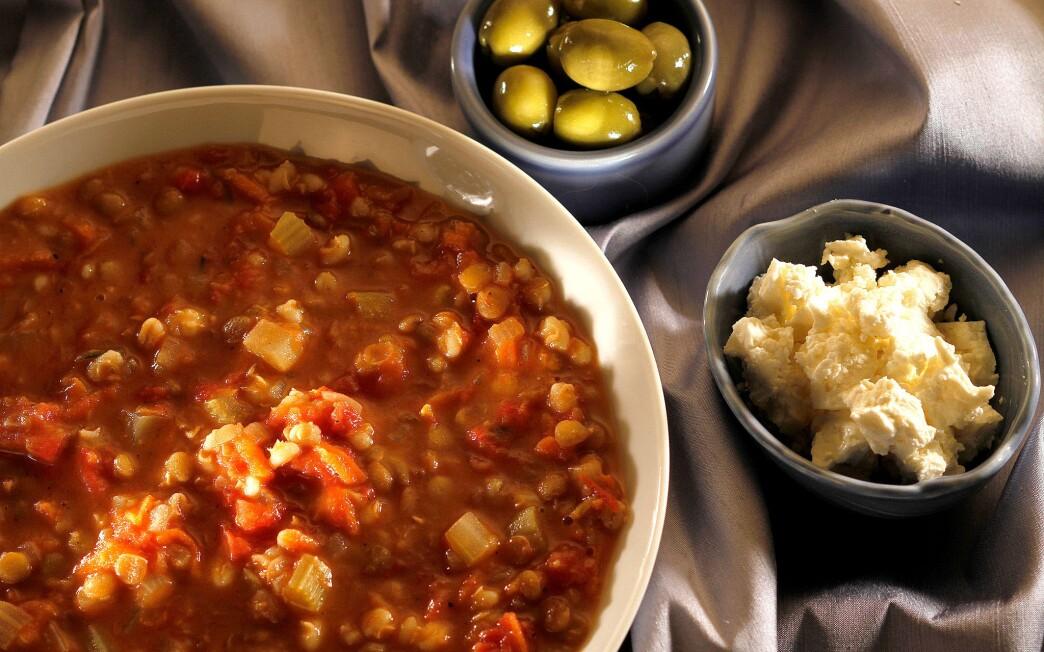 Lentil and barley stew