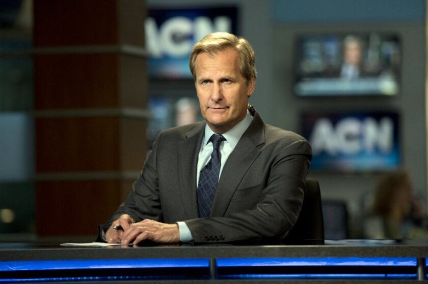 """Jeff Bridges as Will McAvoy in the news drama series, """"The Newsroom."""""""