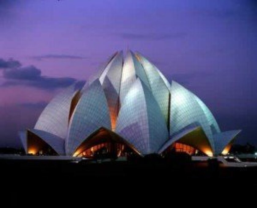 La Jollan Fariborz Sahba designed the Lotus Temple in Delhi, India. With millions of visitors each year, this building is one of the most frequented sites in the world. Courtesy