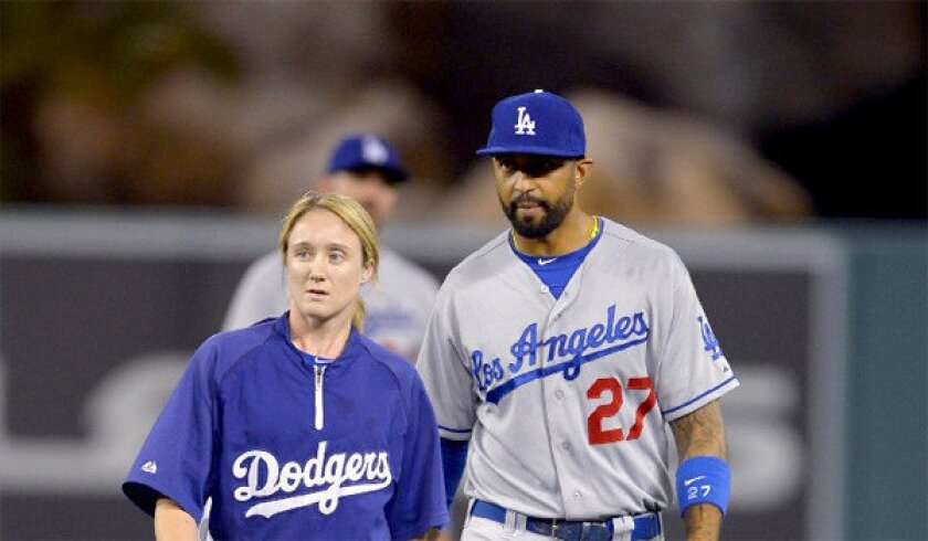 Dodgers fall to Angels, 4-3, as Matt Kemp exits game in seventh