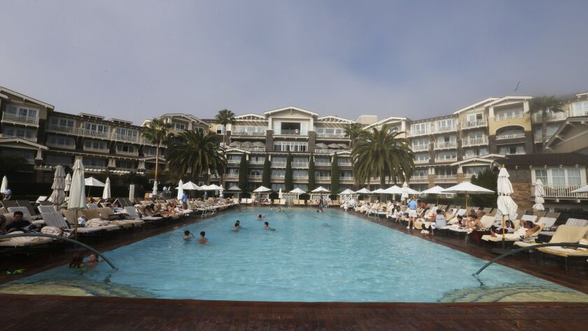 The Montage Laguna Beach resort. The leisure and hospitality industry posted the largest job gains in May.