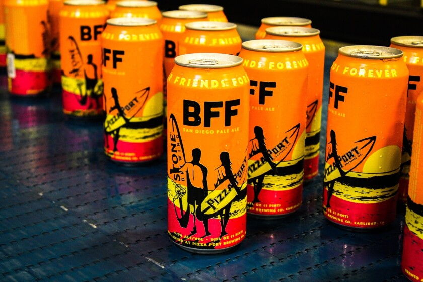 BFF is available anywhere Pizza Port canned brews are sold.